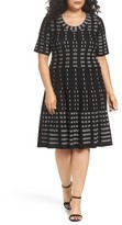 Gabby Skye Plus Size Women's Fit & Flare Sweater Dress