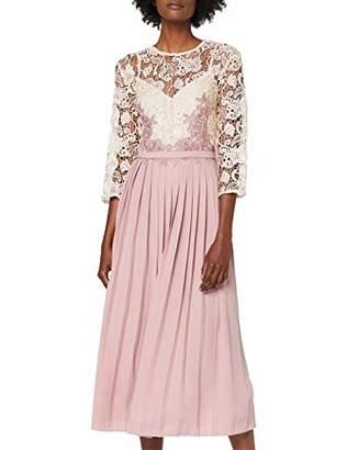 Little Mistress Women's Eloise Rose Lace Midi Dress Party,(Manufacturer Size: 38)
