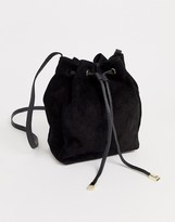 Asos Design DESIGN SUEDE bucket bag