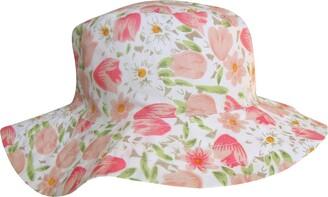 TeddyT's Women's Wide Brim Floral Tulip Design Summer Sun Hat (M/L (57cm))