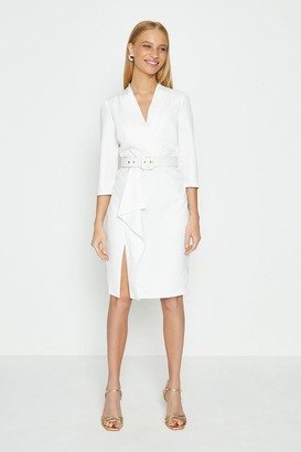 Coast Wrap Front Long Sleeve Dress