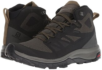 Salomon Outline Mid GTX (Black/Beluga/Capers) Men's Shoes