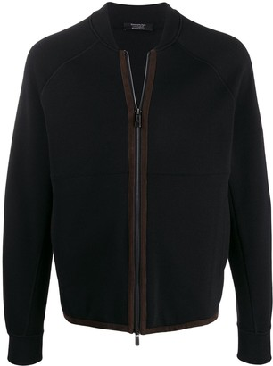 Ermenegildo Zegna x Maserati panelled bomber jacket