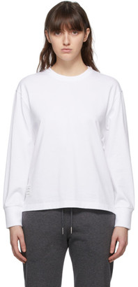 Thom Browne Online Exclusive White Oversized Long Sleeve T-Shirt