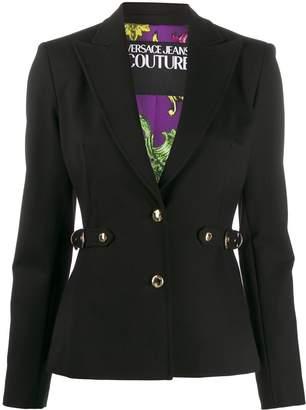 Versace belted tailored blazer