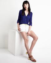 Splendid Striped Button-Down Shirt, Blue Jay