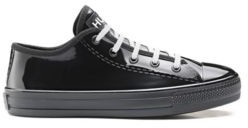 HUGO BOSS Low-profile lace-up trainers in glossy rubber