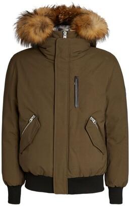 Mackage Raccoon Fur-Trim Dixon Bomber Jacket