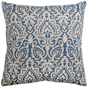 "Rizzy Home 22"" x 22"" Damask Down Filled Pillow"