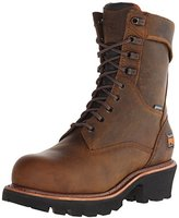 "Timberland Men's 9"" Rip Saw Logger Steel-Toe Waterproof Work and Hunt Boot"