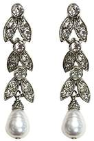 Ben-Amun Women's Petite Marquise Pearl Drop Bridal Wedding Earrings with Swarovski Crystal