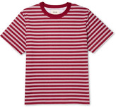 Noon Goons Surfer Striped Cotton-jersey T-shirt - Claret