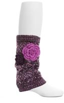 MeMoi Weaved Flower Leg Warmers