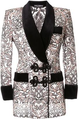 Dolce & Gabbana Baroque Print Blazer