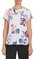 CeCe Women's Flower Garden Print Blouse