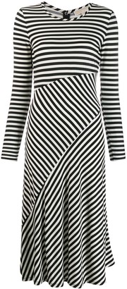 MICHAEL Michael Kors stripe panelled midi dress