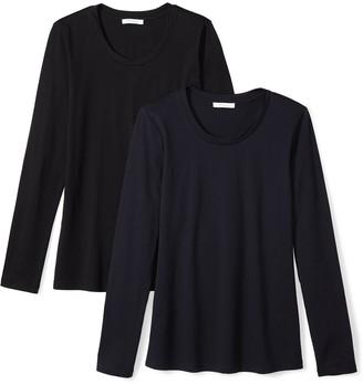Daily Ritual Amazon Brand Women's Lightweight 100% Supima Cotton Long-Sleeve Crew Neck T-Shirt