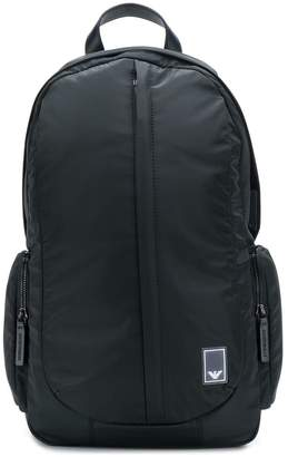 Emporio Armani logo patch backpack