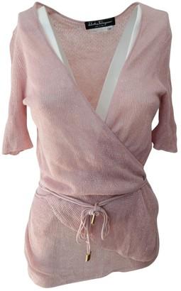 Salvatore Ferragamo Pink Linen Top for Women