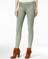 Jessica Simpson Juniors' Kiss Me Light Pastel Green Wash Super Skinny Jeans