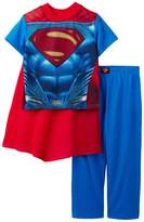 DC Comics Superman Boys 2-Piece Pajama Set with Cape, Kids