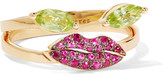 Delfina Delettrez 18-karat Gold, Peridot And Ruby Ring - 53