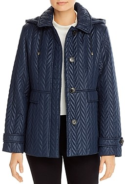 Kate Spade Quilted Hooded Coat