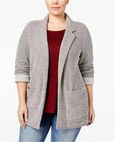 Style&Co. Style & Co. Plus Size French Terry Blazer, Only at Macy's