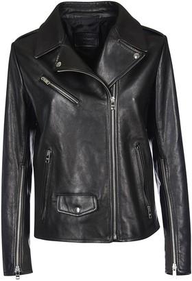 Prada One-sided Zipped Biker Jacket