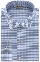 Kenneth Cole Reaction Men's Slim-Fit Techni-Cole Performance Blue Check Dress Shirt