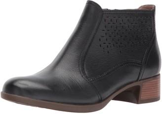 Dansko Women's Liberty Ankle Bootie Black Burnished Nappa 41 EU/10.5-11 M US