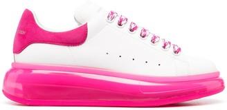 Alexander McQueen Oversized contrast-sole sneakers