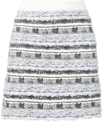 Thom Browne Check Tweed Yarn Miniskirt