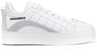 DSQUARED2 Metallic Threading Lace-Up Sneakers