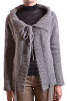 Liviana Conti Women's Grey Wool Cardigan.