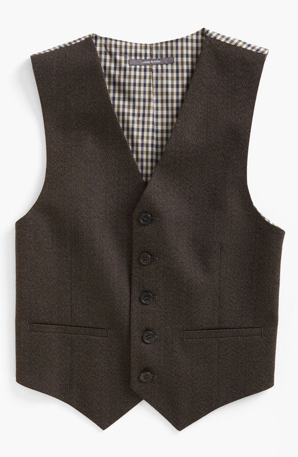 Nordstrom 'Andrew' Herringbone Vest (Big Boys)