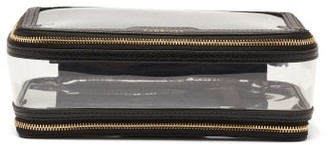 Anya Hindmarch In-flight Leather And Tpu Wash Bag - Black