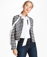 Brooks Brothers Gingham Boucle Jacket
