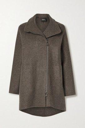 Akris Melange Cashmere Coat - Anthracite
