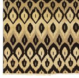 Hand-Woven Ikat-Pattern Rug