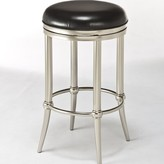 "Hillsdale Cadman 26"" Swivel Bar Stool Furniture Color: Dull Nickel, Upholstery: Black"