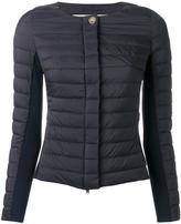 Herno collarless zipped padded jacket