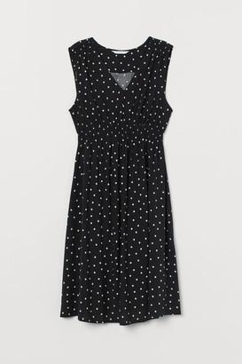 H&M MAMA Smock-detail Dress - Black