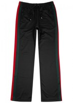 Gucci Black Flared Jersey Jogging Trousers