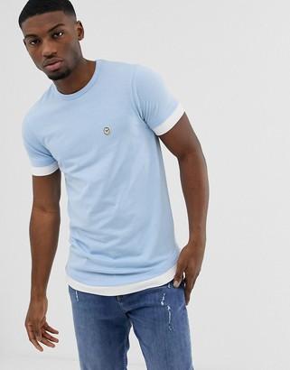 Le Breve double layer t-shirt-Blue