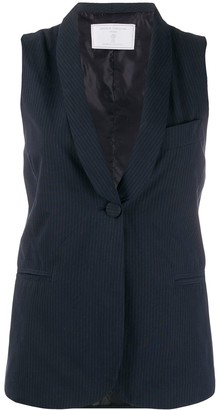 Societe Anonyme Striped-Print Single-Breasted Vest