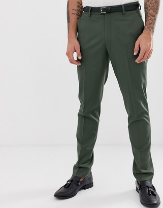ASOS DESIGN skinny suit pants in khaki