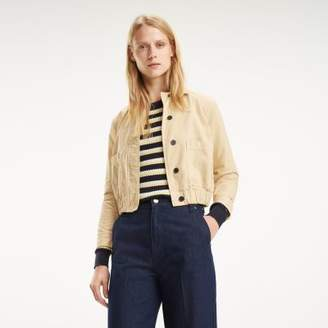 Tommy Hilfiger Collared Cropped Jacket