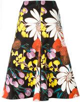 Marni Madder print A-line skirt - women - Cotton/Kenaf - 42