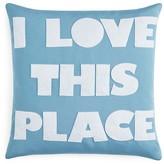 "Alexandra Ferguson Indoor Outdoor I Love This Place Decorative Pillow, 16"" x 16"" - 100% Exclusive"